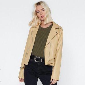 Nasty Gal Faux Leather Moto Jacket